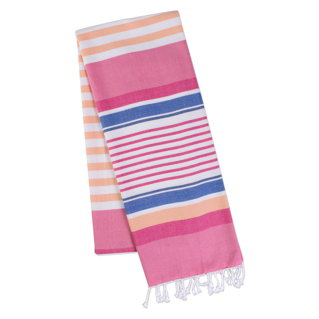 Fouta Towel Pink Beachy Stripe