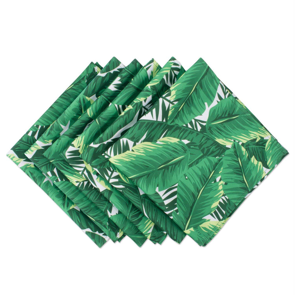 Banana Leaf Print Outdoor Napkin Set/6