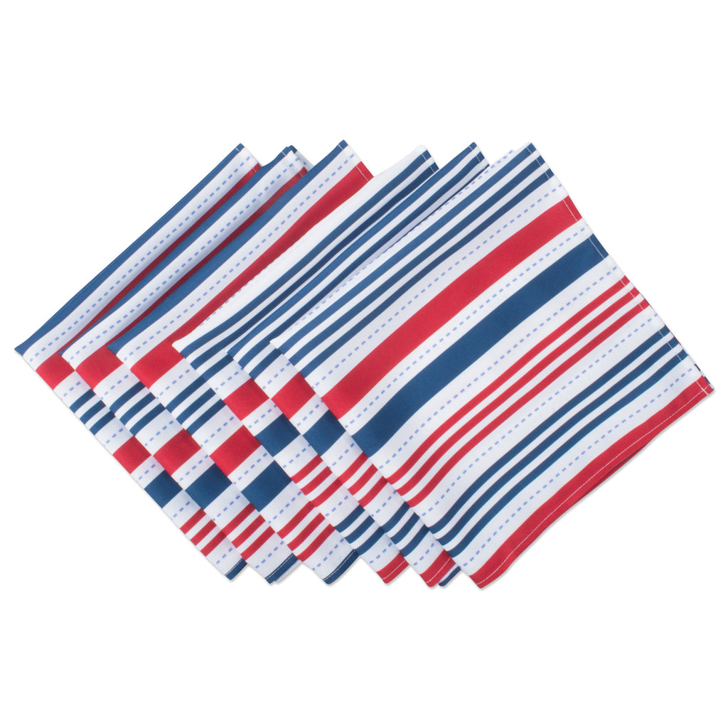 Patriotic Stripe Outdoor Napkin Set/6