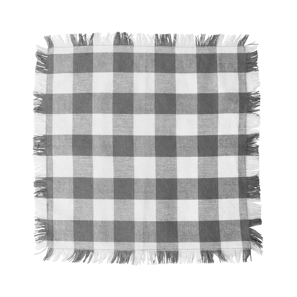 DII Assorted Gray Heavyweight Fringed Dishcloth (Set of 6)