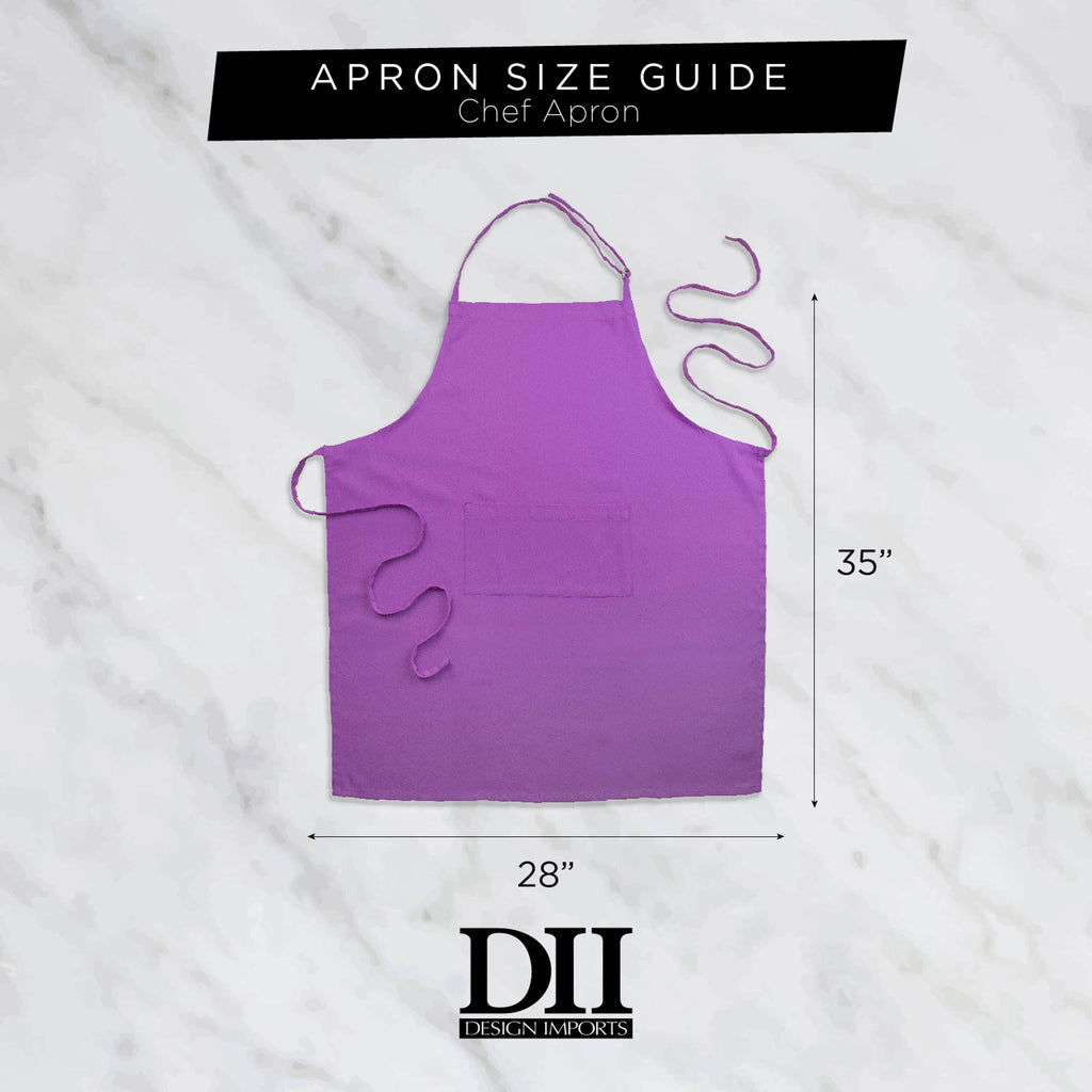 DII Wine Heavyweight Check Fringed Chef Apron
