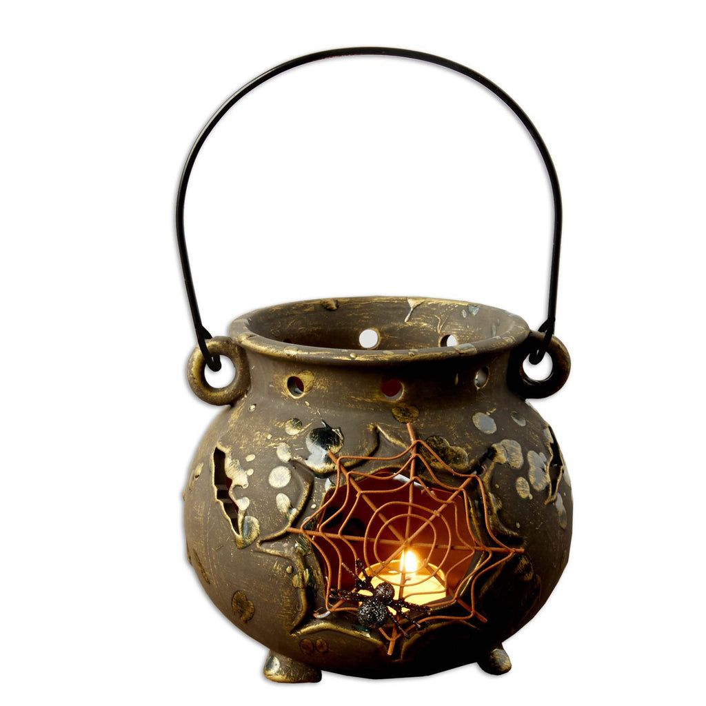 Ceramic Lantern Spider Web Cauldron