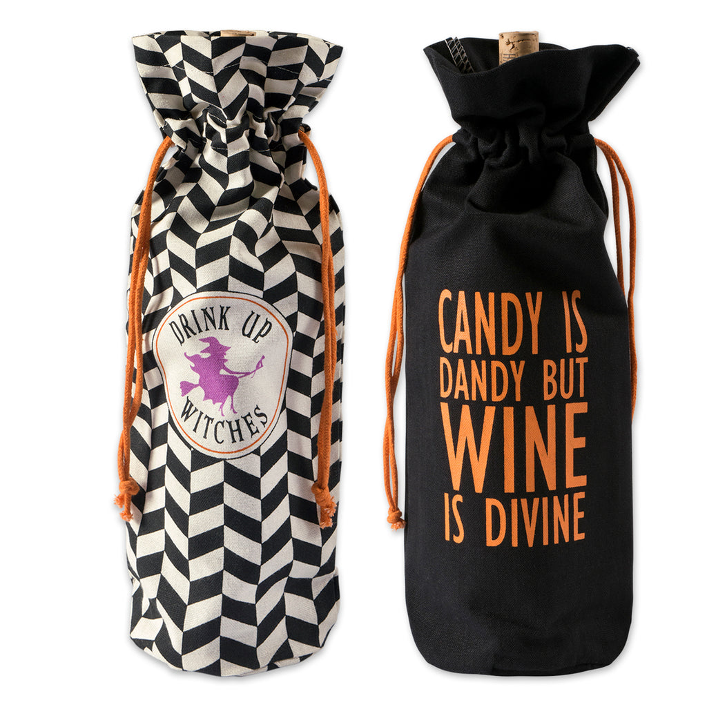 Asst All Hallows Eve Wine Bags Set/2