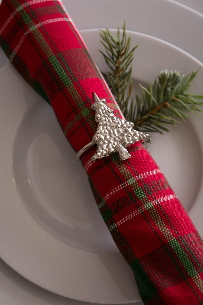 DII Christmas Tree Napkin Ring (Set of 6)