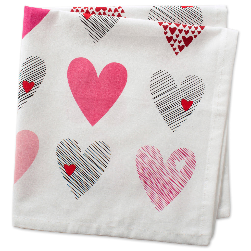 DII Hearts Collage Print Napkin (Set of 6)