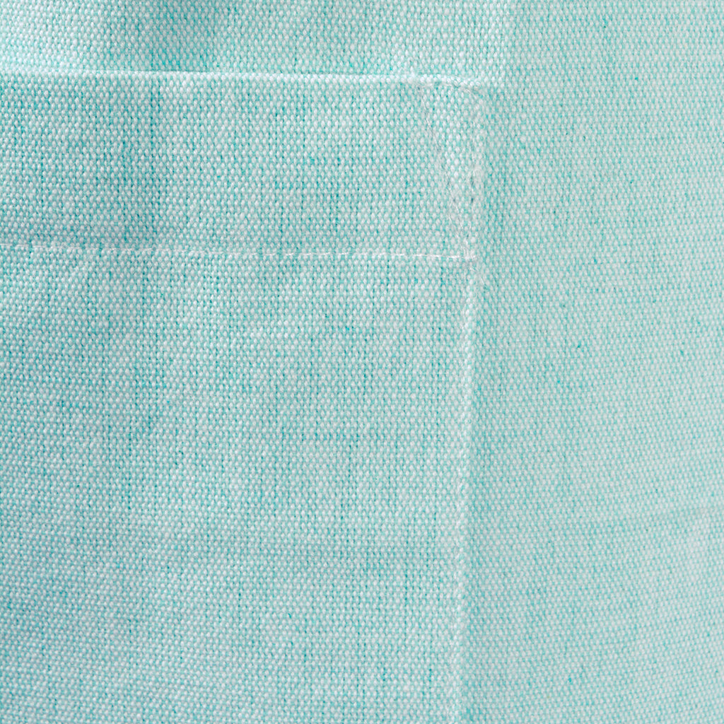 DII Aqua Solid Chambray Chef Apron