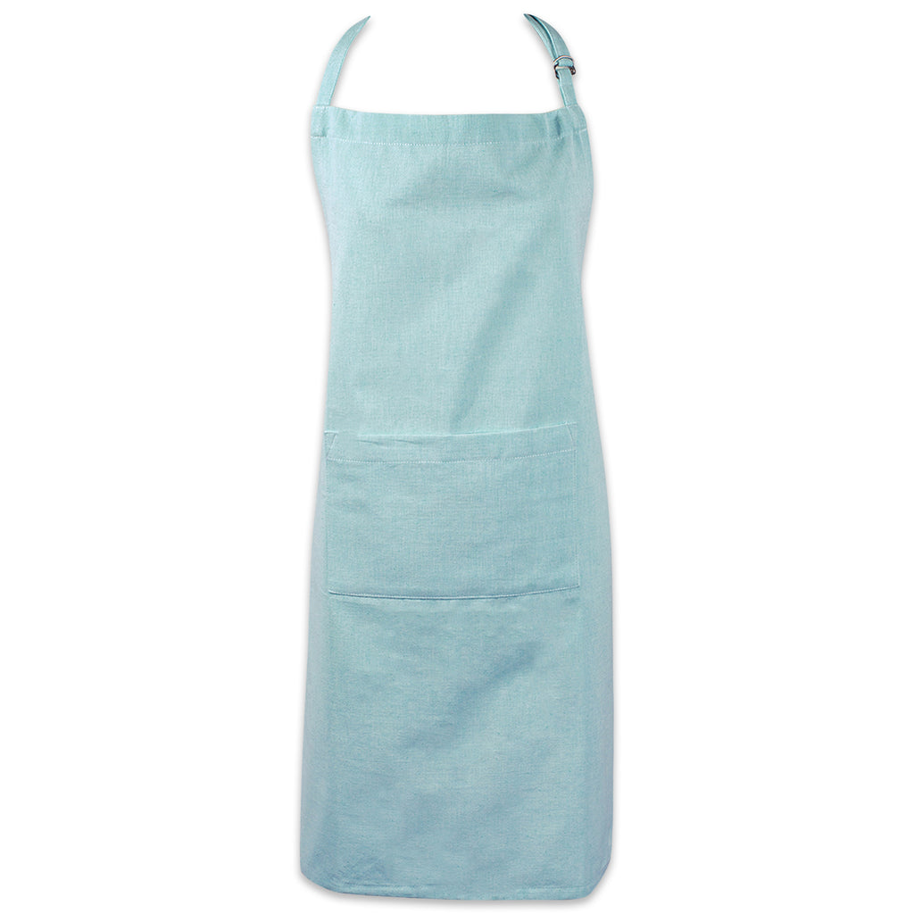 Aqua Solid Chambray Chef Apron