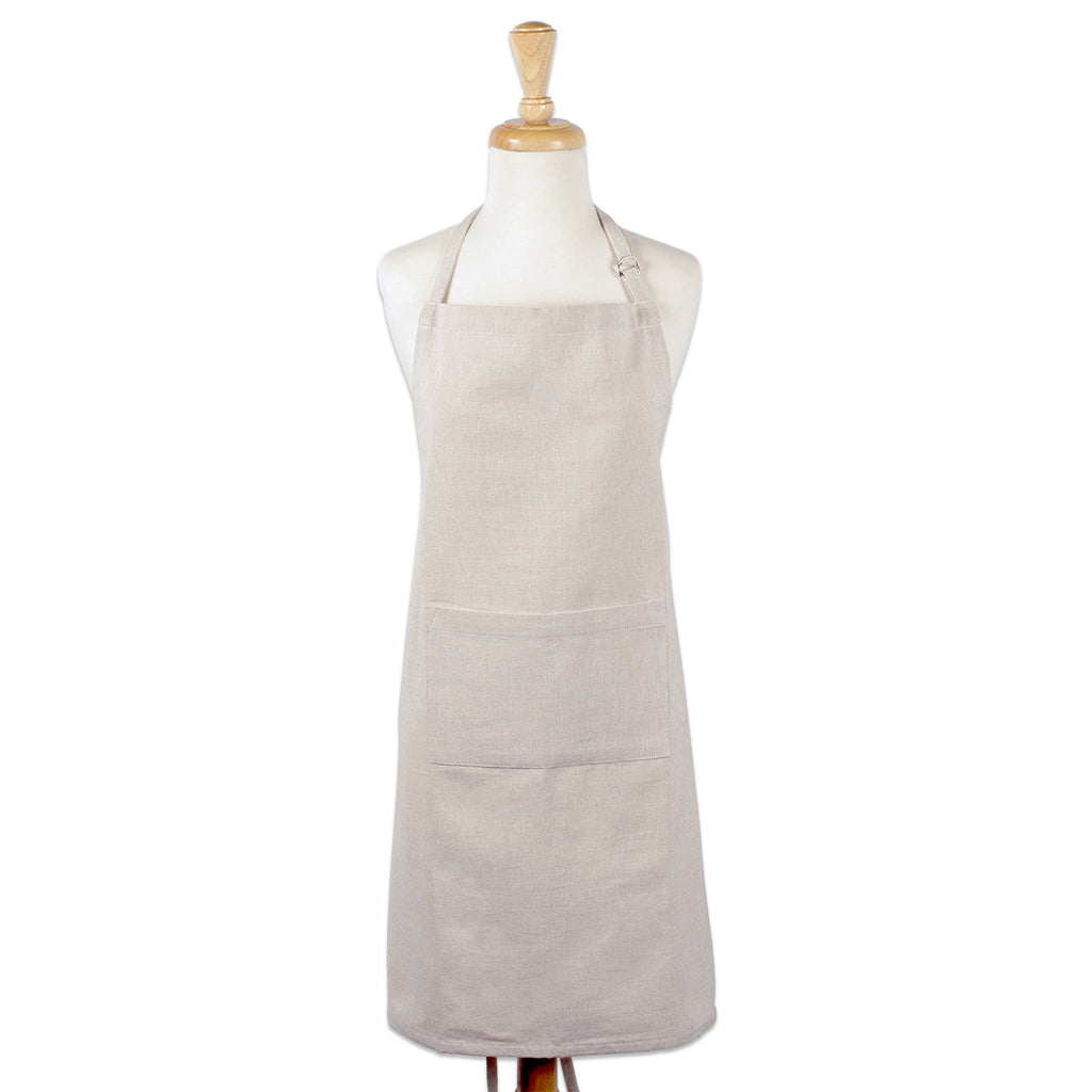 DII Natural Solid Chambray Chef Apron