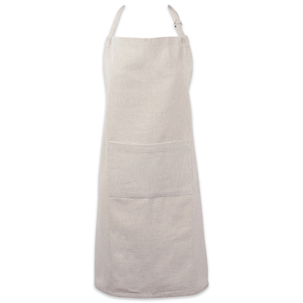 Natural Solid Chambray Chef Apron