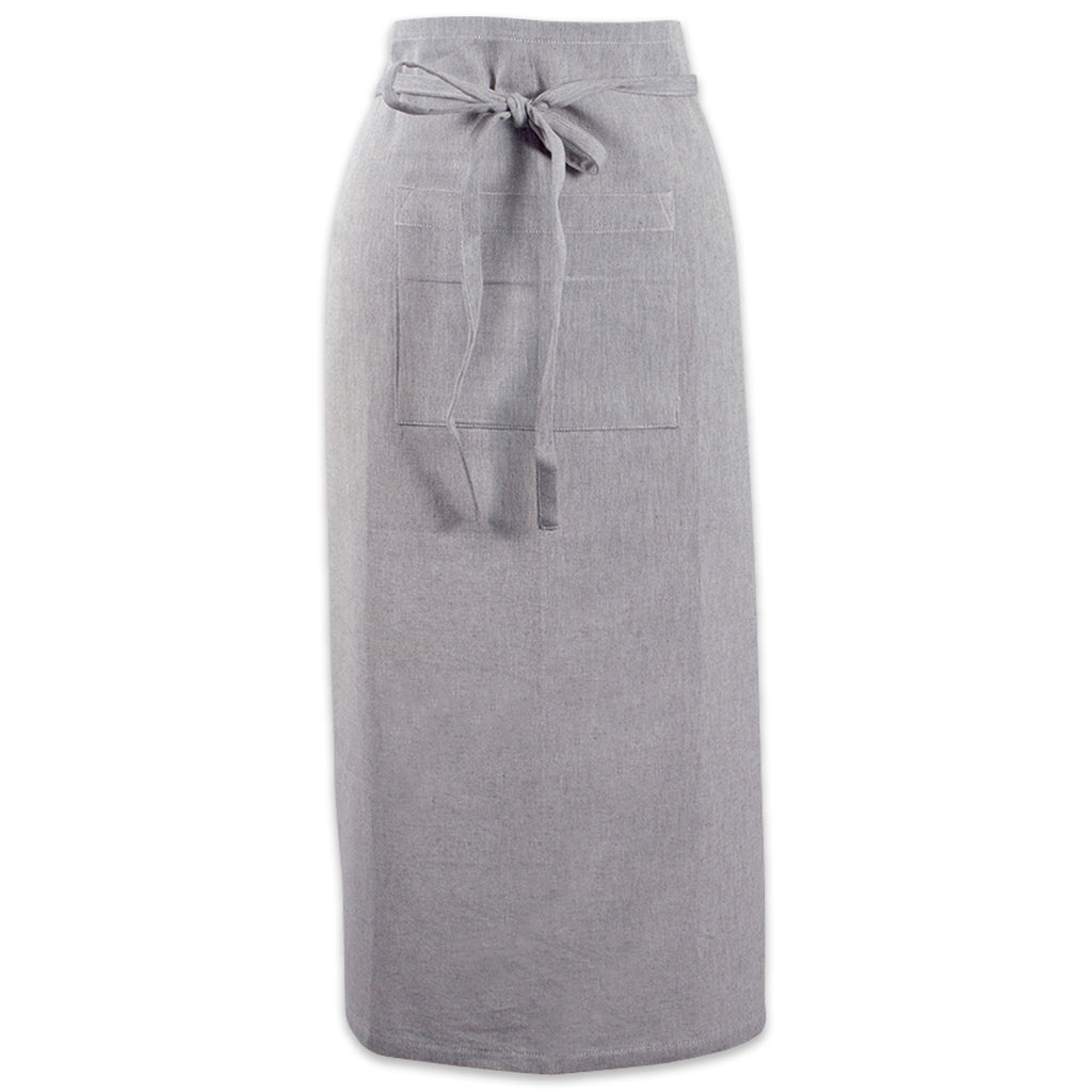 Gray Solid Chambray Bistro Apron