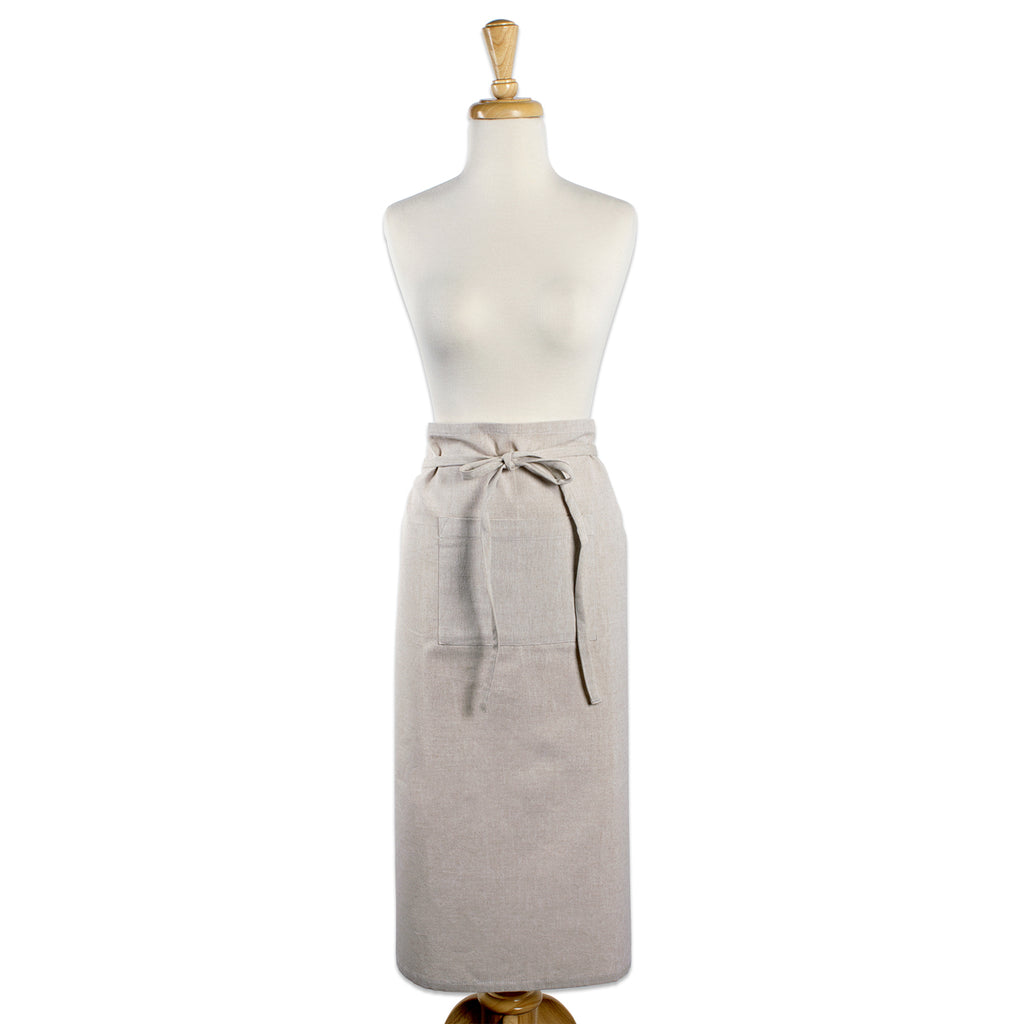 DII Natural Solid Chambray Bistro Apron