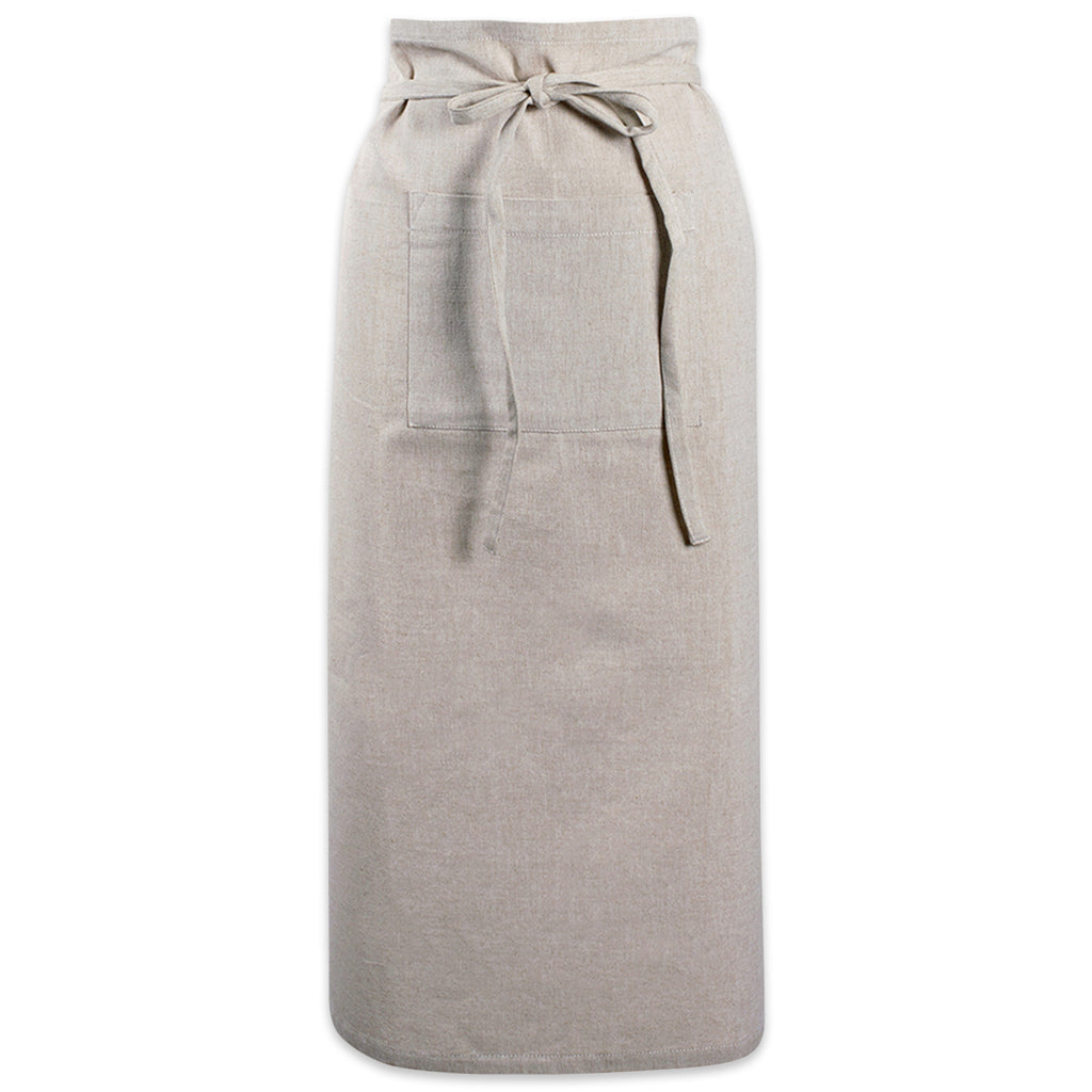 Natural Solid Chambray Bistro Apron