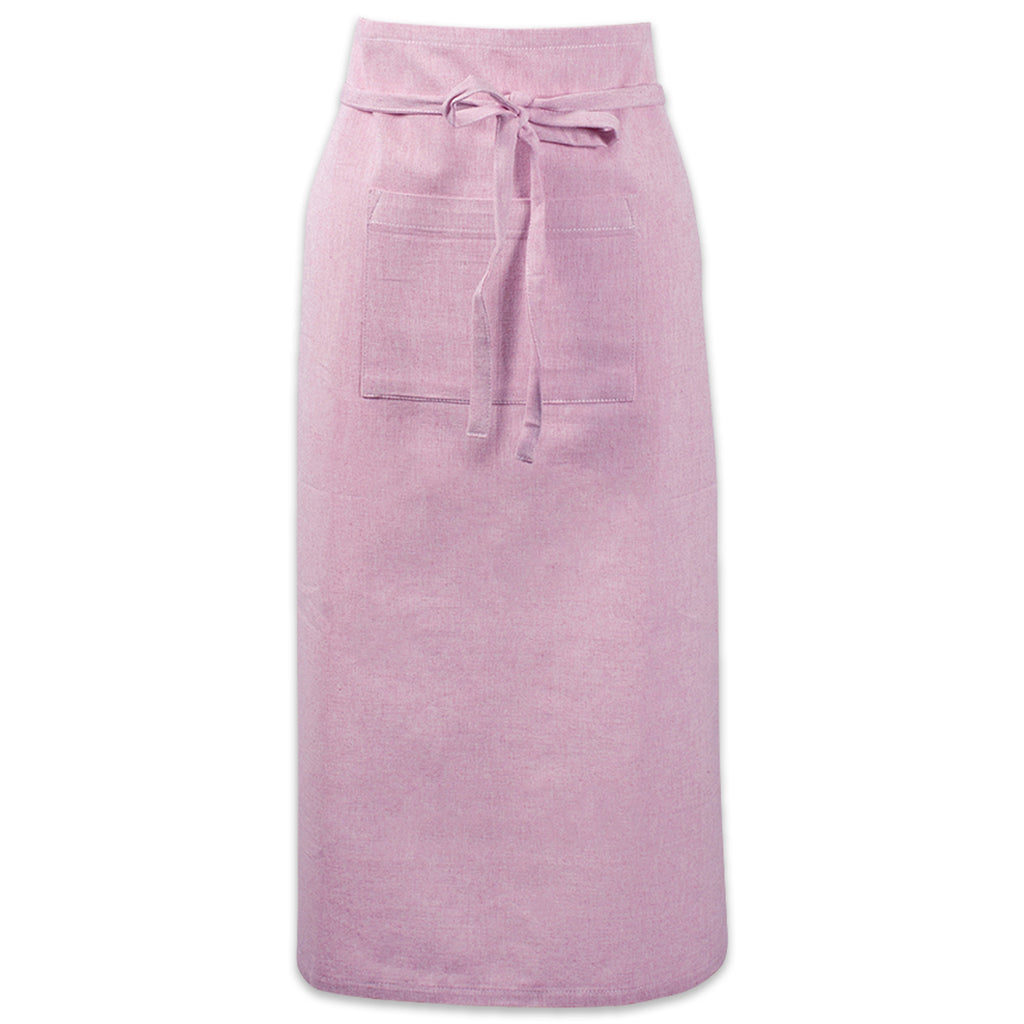 Rose Solid Chambray Bistro Apron