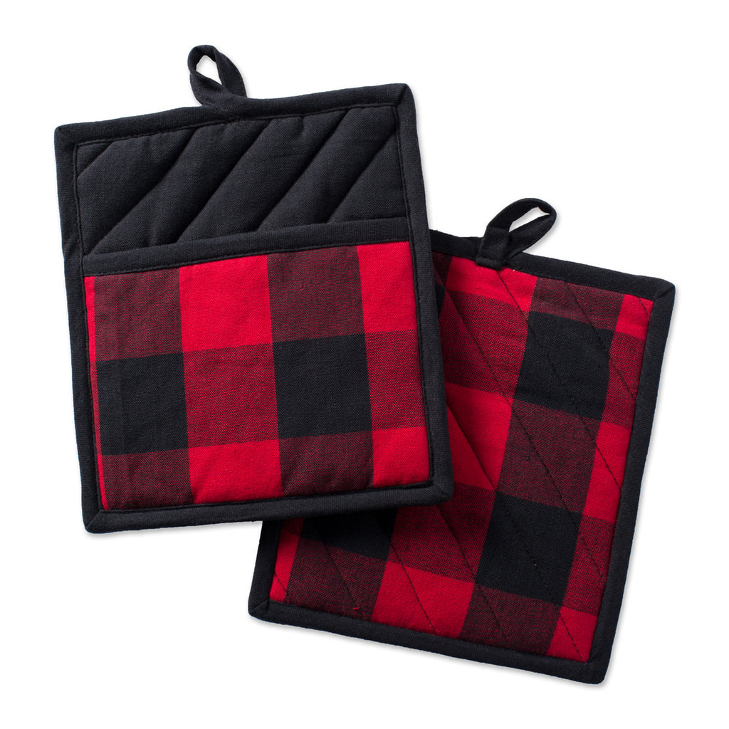 Red Buffalo Check Potholder Set/2