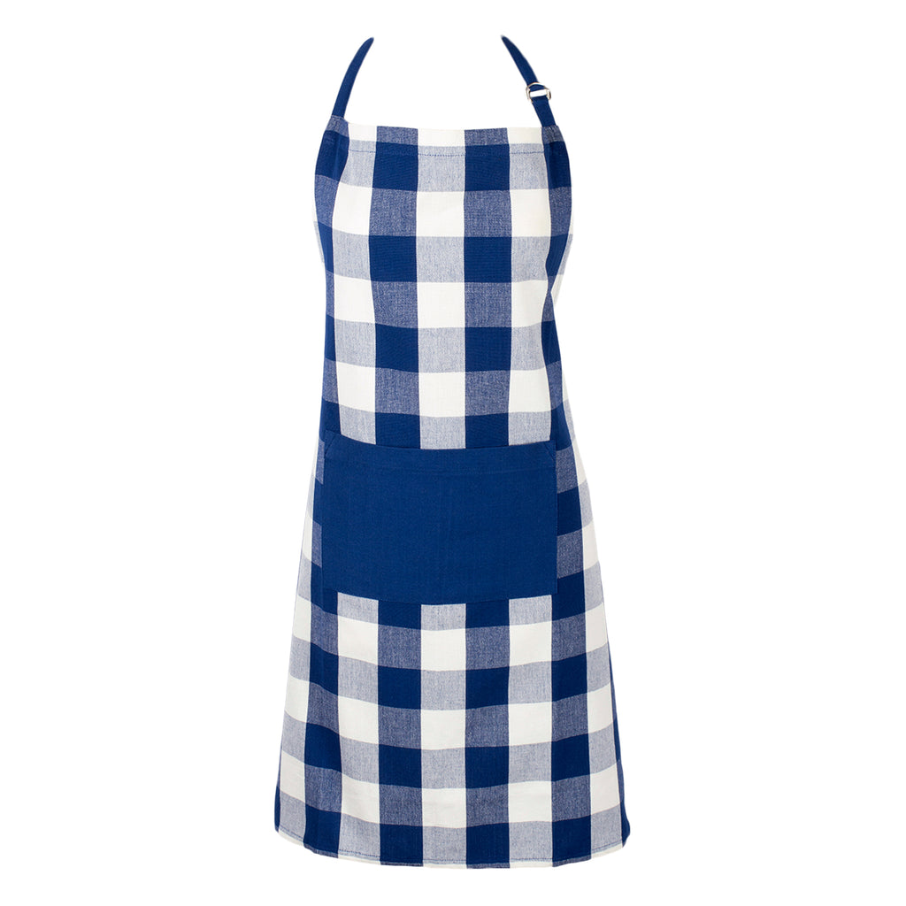 DII Navy Buffalo Check Chef Apron