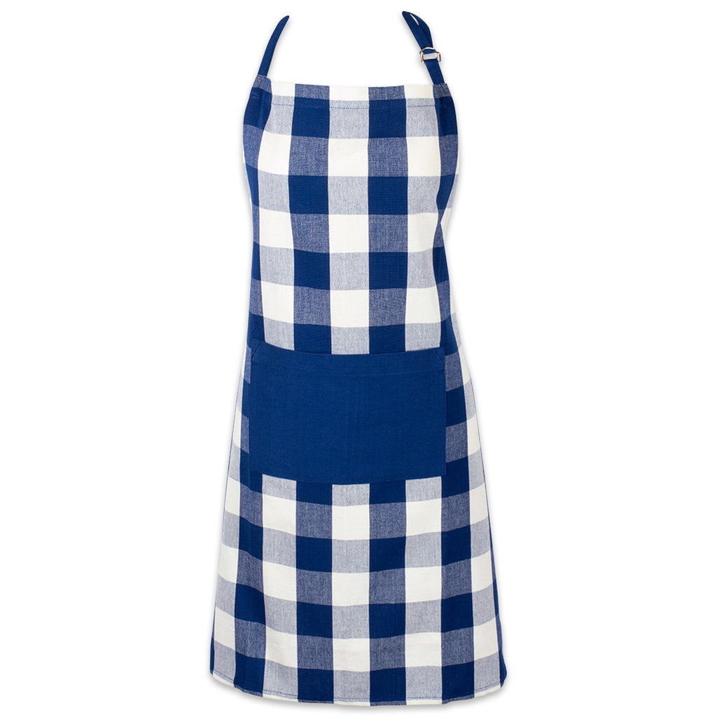 Navy Buffalo Check Chef Apron