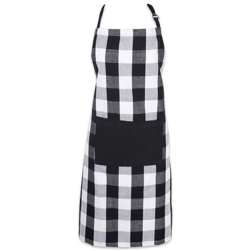 Black Buffalo Check Chef Apron