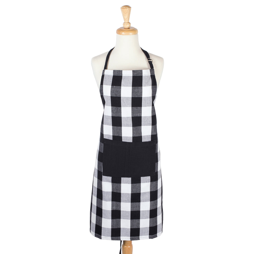DII Black Buffalo Check Chef Apron