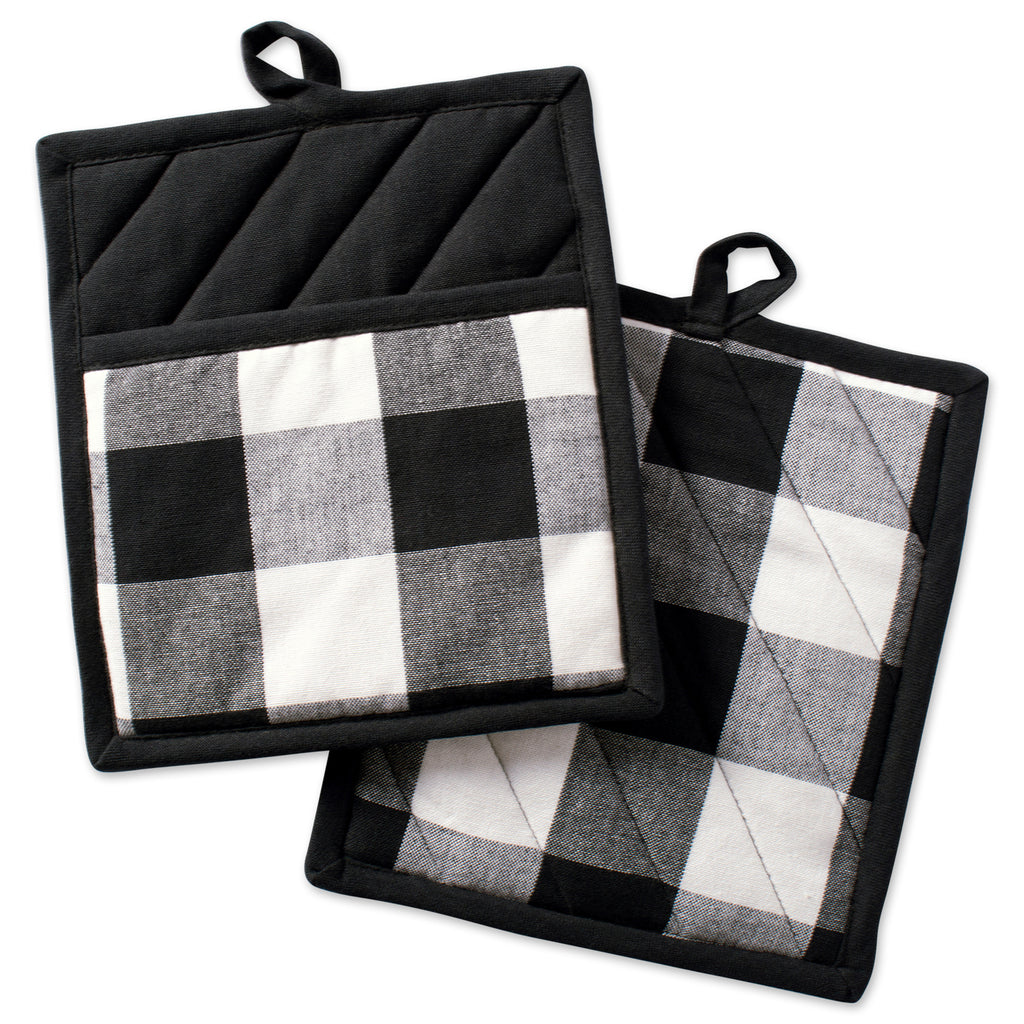 Black Buffalo Check Potholder Set/2