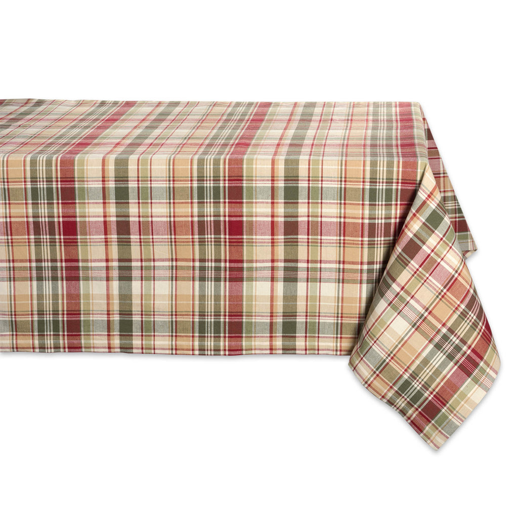 Give Thanks Plaid Tablecloth 52x52