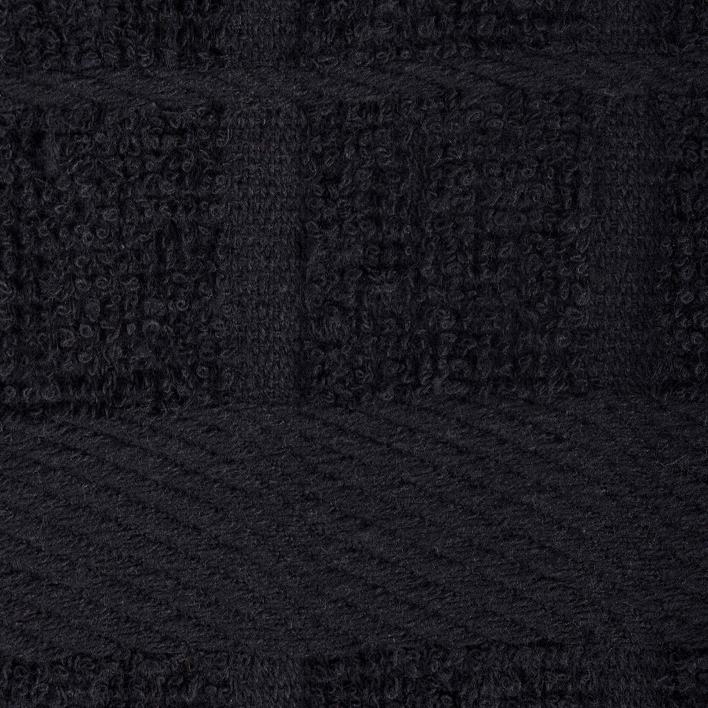 DII Solid Black Windowpane Terry Dishcloth (Set of 6)