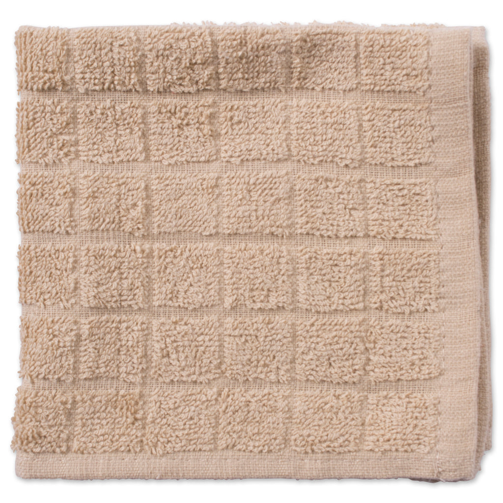 DII Solid Pebble Windowpane Terry Dishcloth (Set of 6)