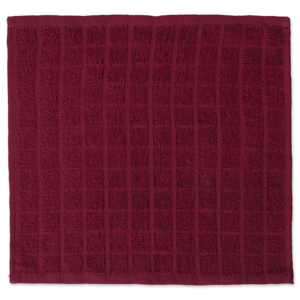 DII Solid Wine Windowpane Terry Dishcloth (Set of 6)