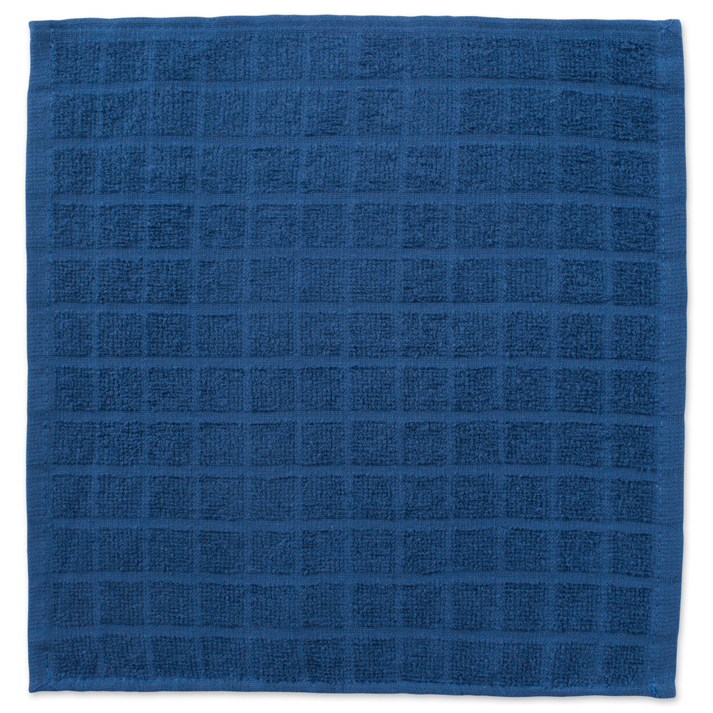 DII Solid Blue Windowpane Terry Dishcloth (Set of 6)