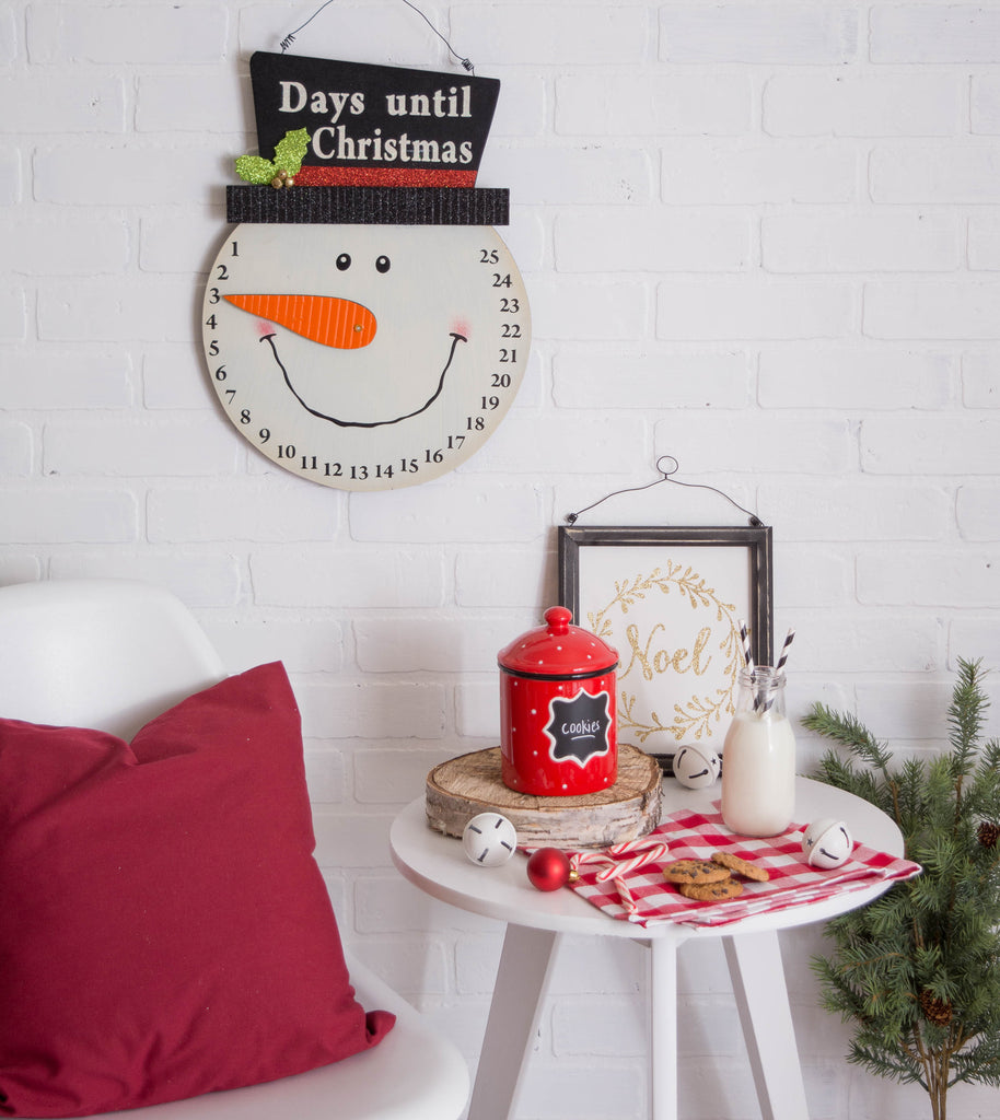DII Snowman Days Til Christmas Hanging Sign