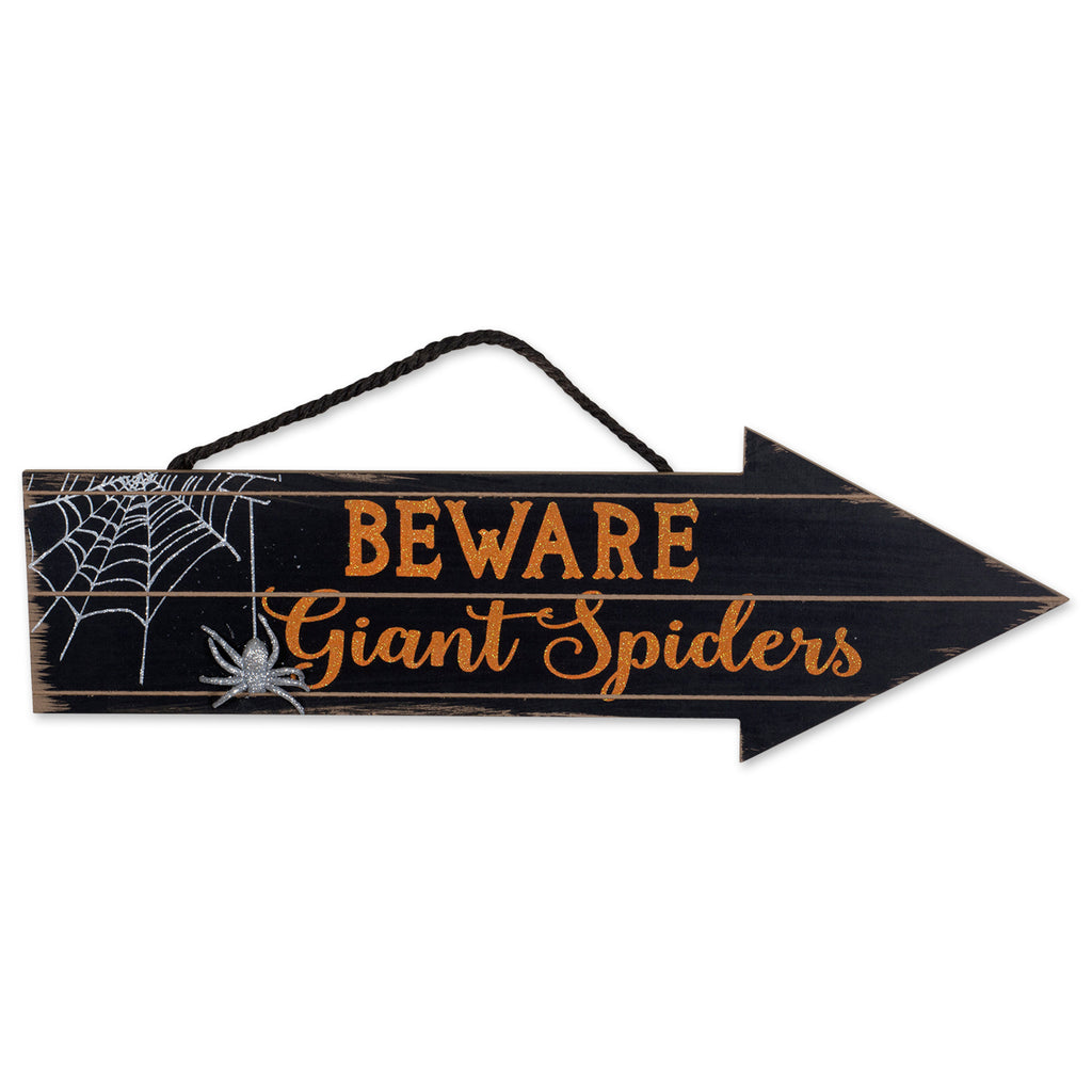 Beware Of Spiders Hanging Sign
