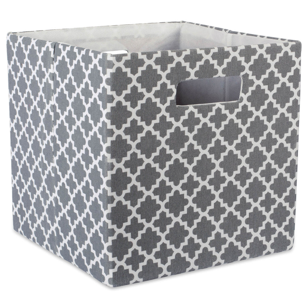 Polyester Cube Lattice Gray Square 11x11x11