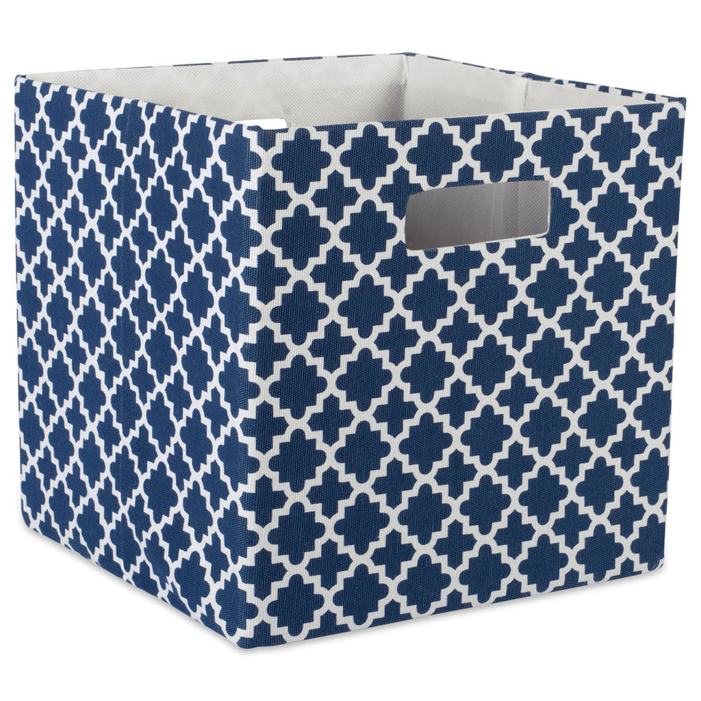 Polyester Cube Lattice Nautical Blue Square 11x11x11