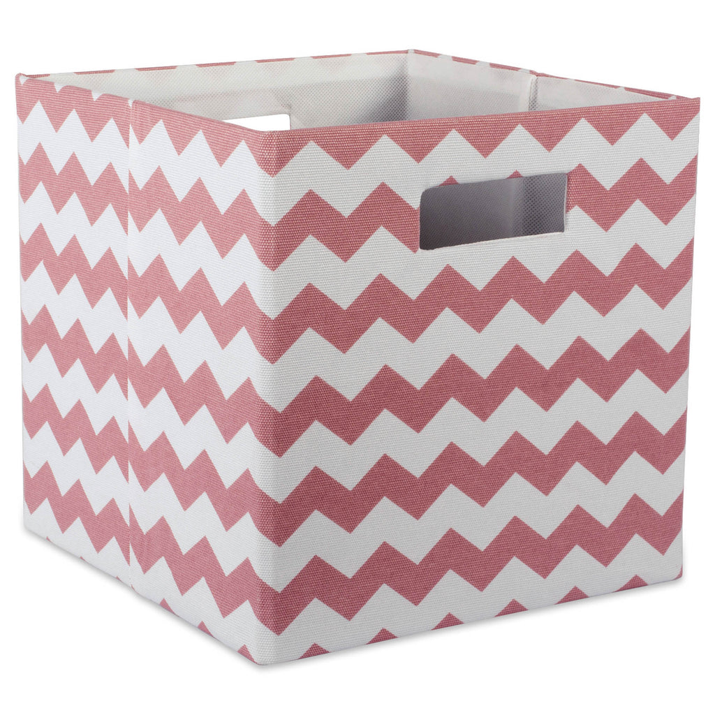 Polyester Cube Chevron Rose Square 11x11x11