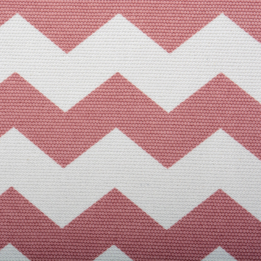 DII Polyester Cube Chevron Rose Square