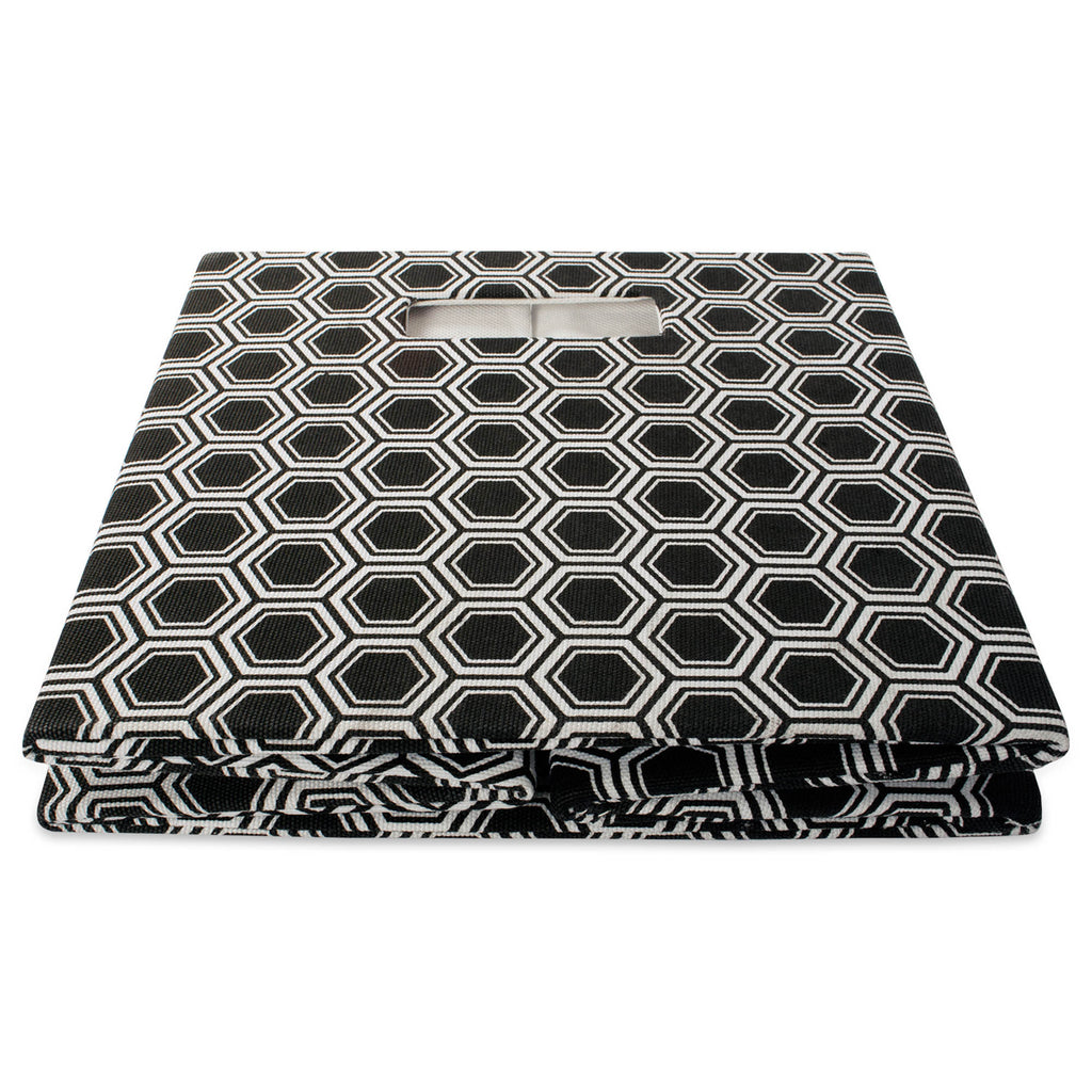 DII Polyester Cube Honeycomb Black Square