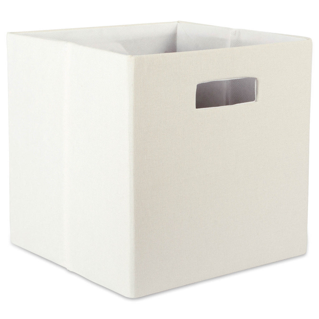 Polyester Cube Solid Off White Square 11x11x11