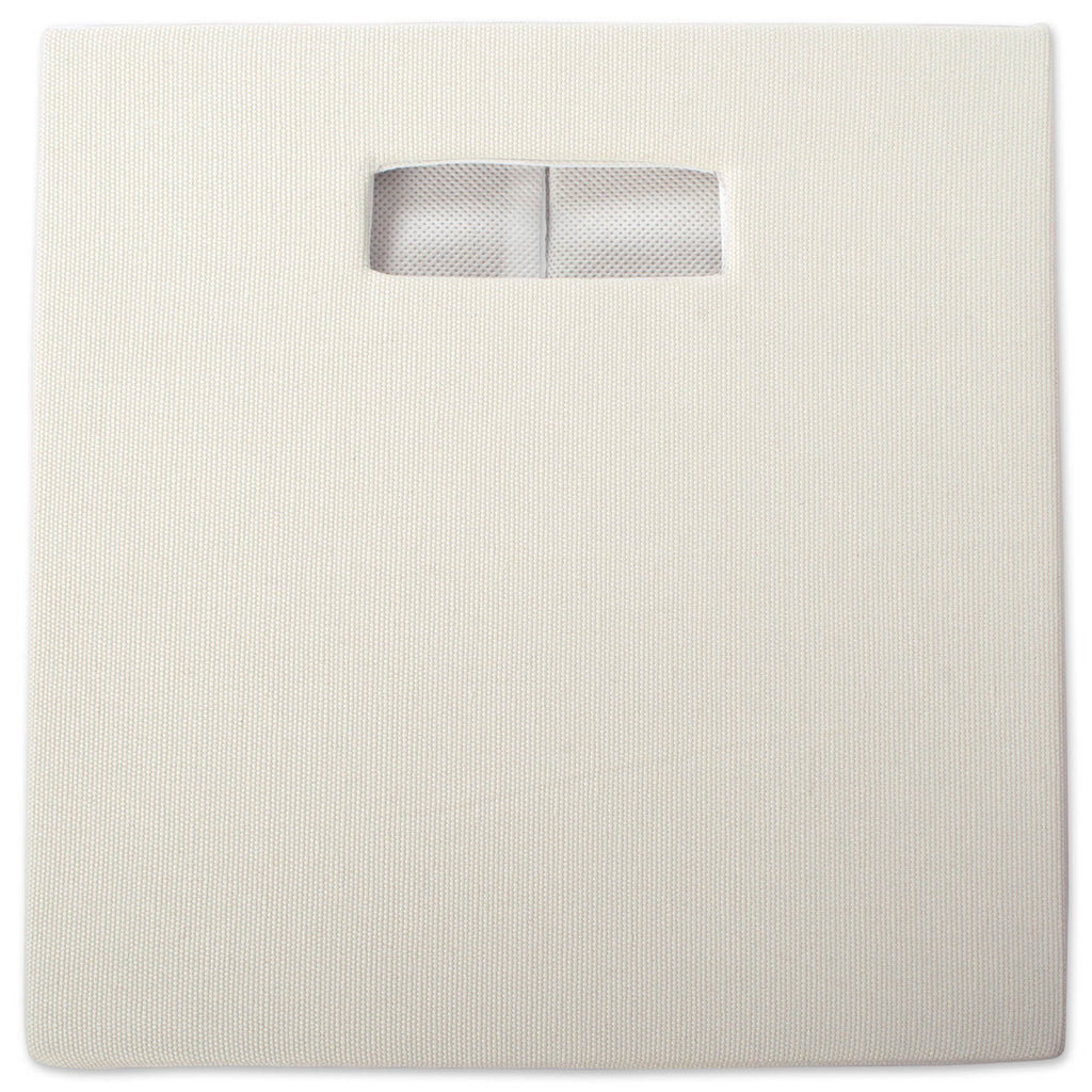 DII Polyester Cube Solid Off White Square
