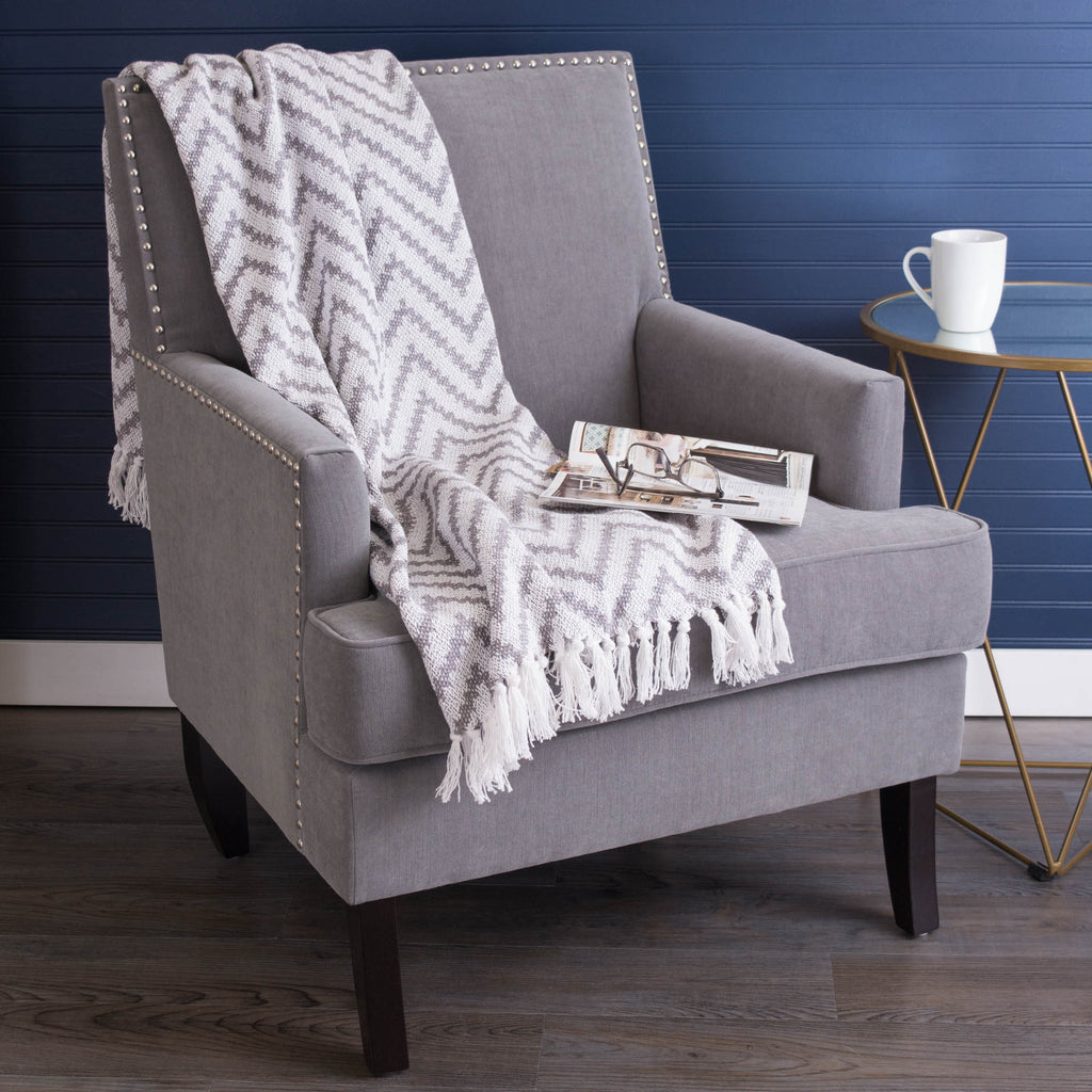 DII Gray Large Chevron Throw