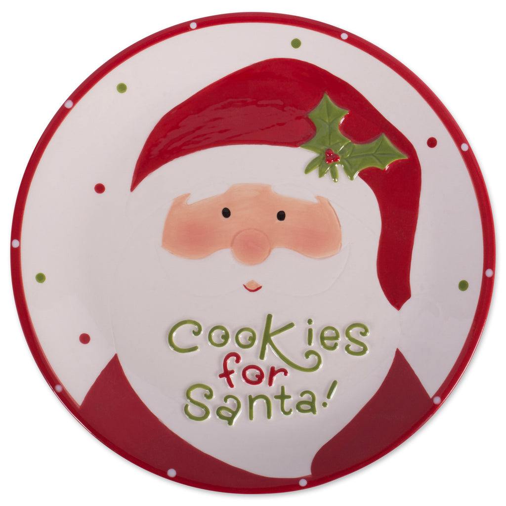 Ceramic Cookies For Santa Plate