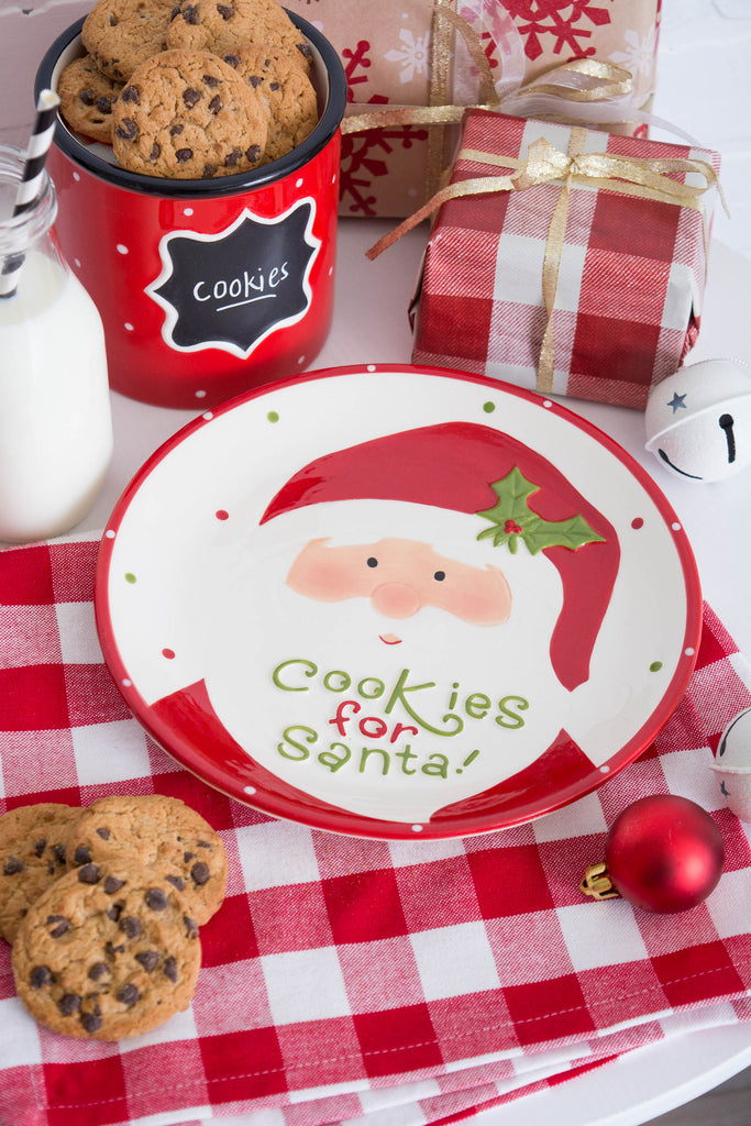 DII Ceramic Cookies For Santa Plate