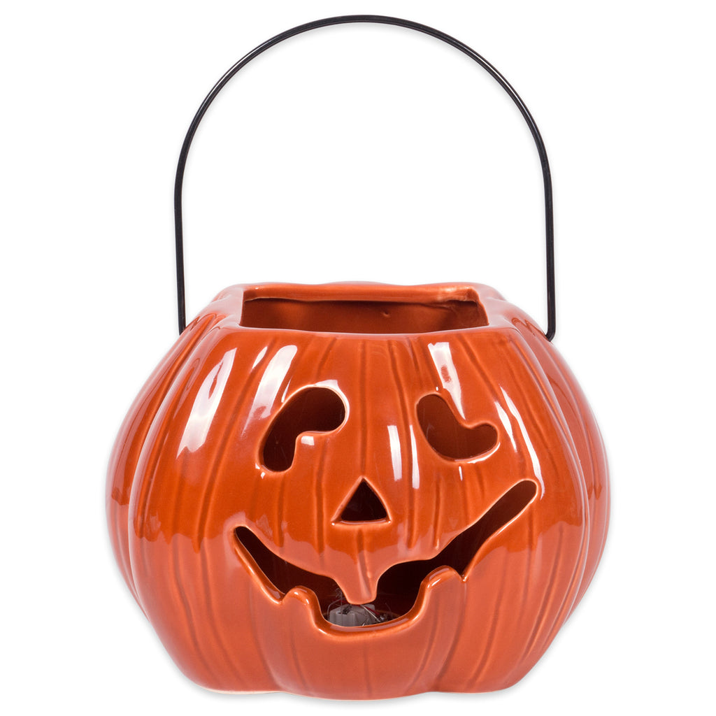DII Orange Pumpkin Treat Bag Lantern