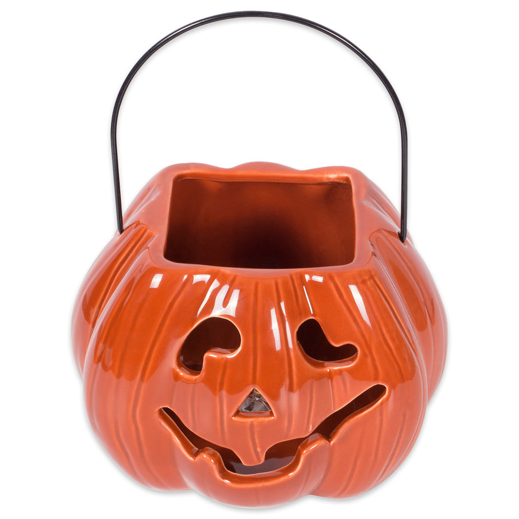 Orange Pumpkin Treat Bag Lantern