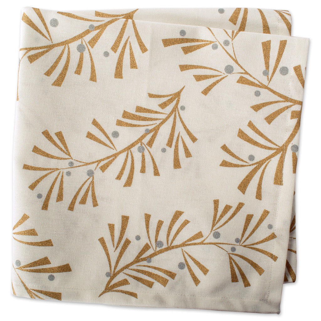 DII Metallic Holly Leaves Napkin (Set of 6)