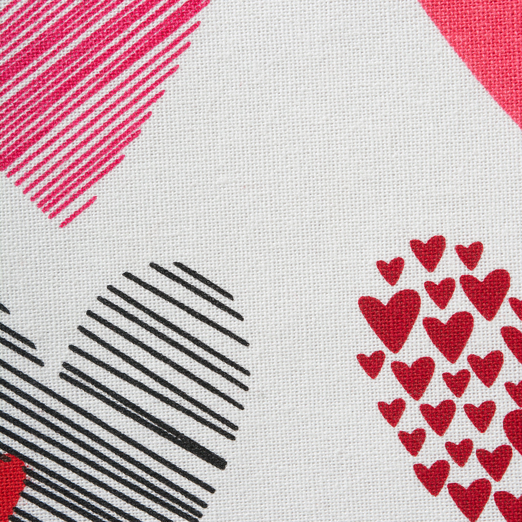 DII Hearts Collage Printed Dishtowel (Set of 2)