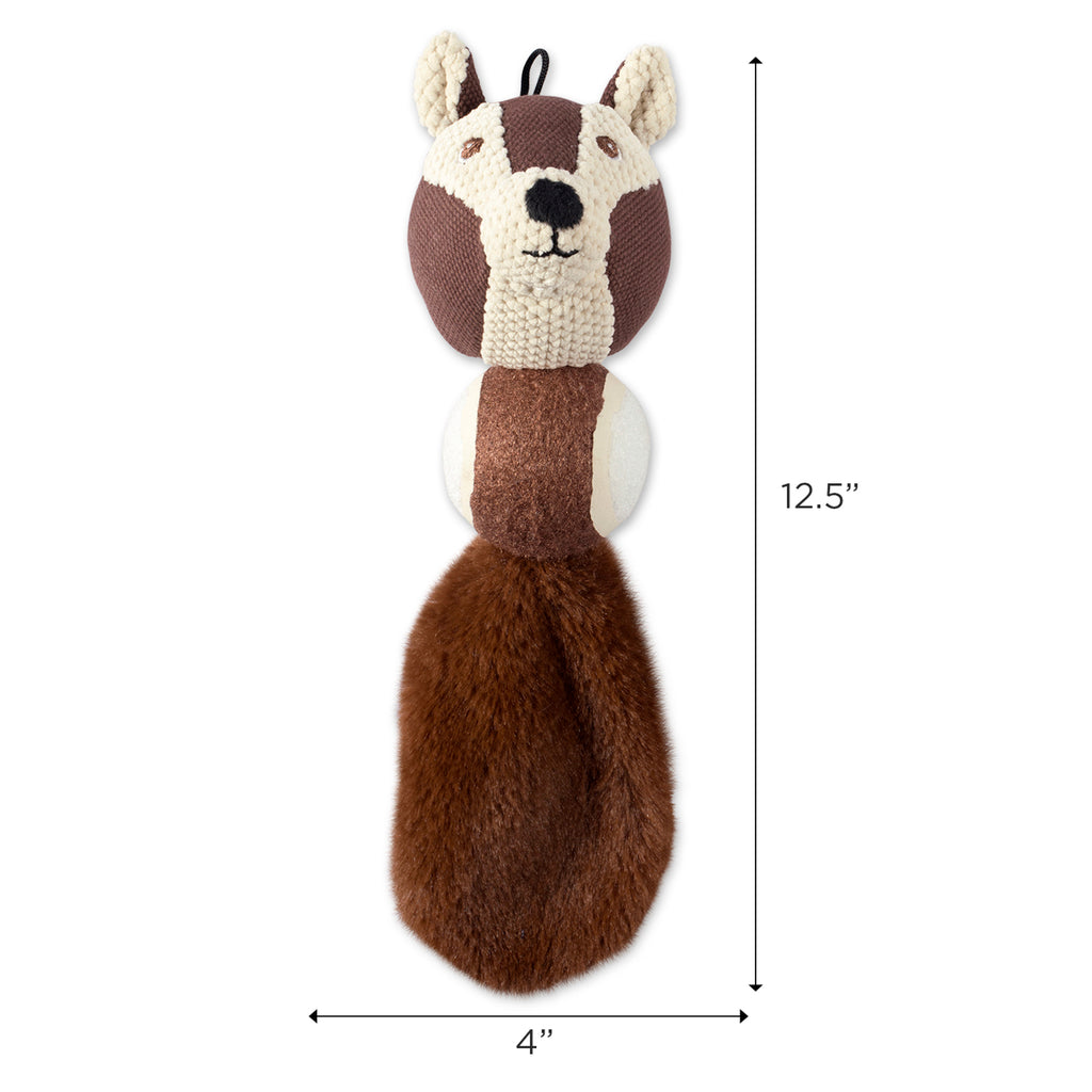 DII Squirrel & Raccoon Ball With Squeaker Pet Toy (Set of 2)