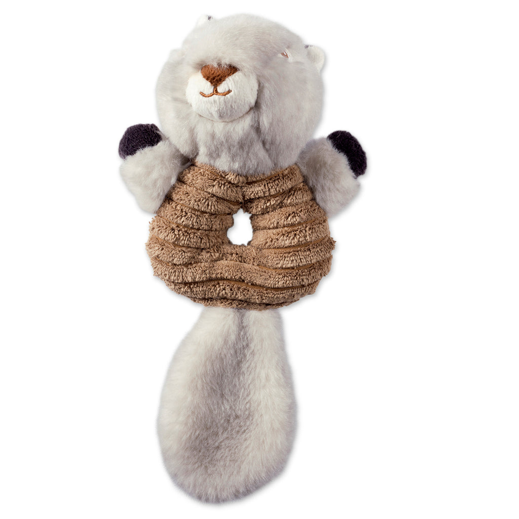 Squirrel Plush Ring With Squeaker Pet Toy