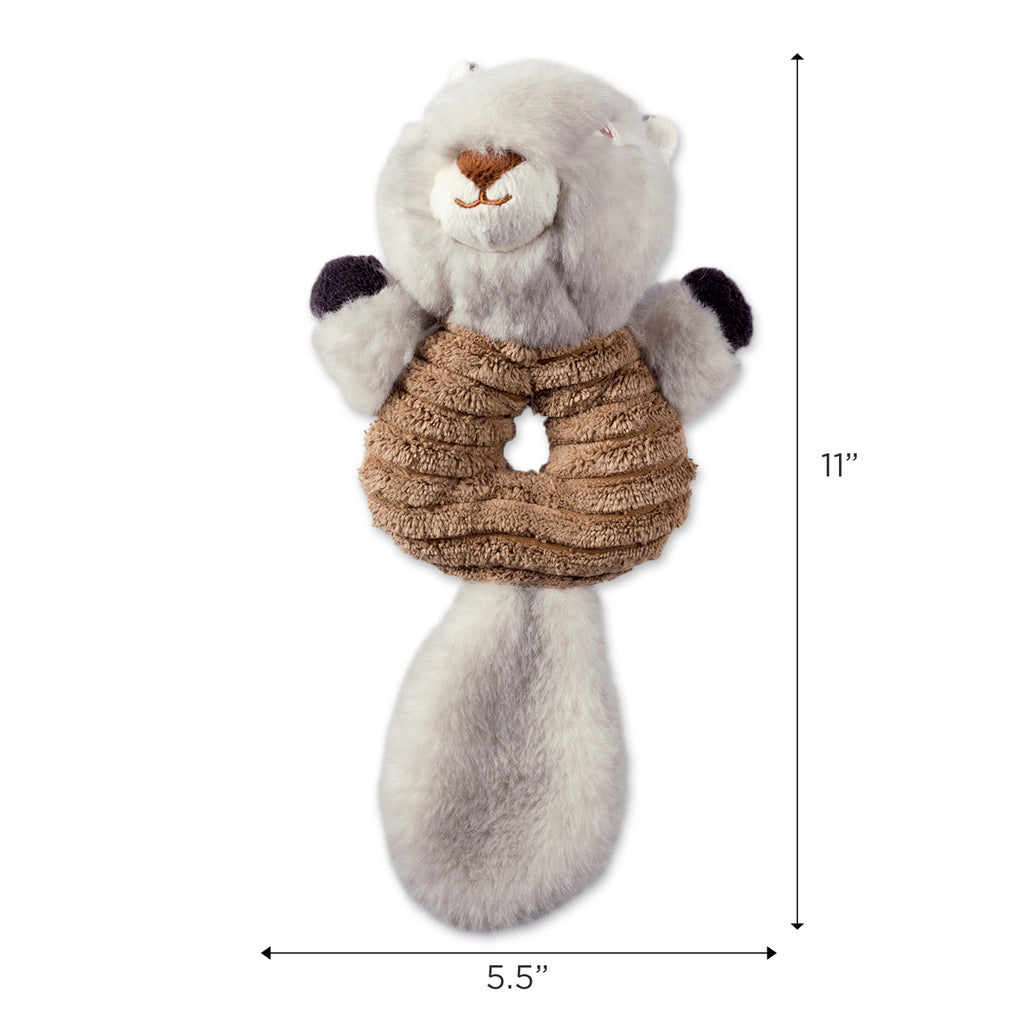DII Squirrel & Raccoon Plush Ring With Squeaker Pet Toy (Set of 2)