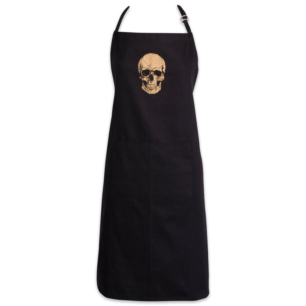 Gold Skull Chef Apron