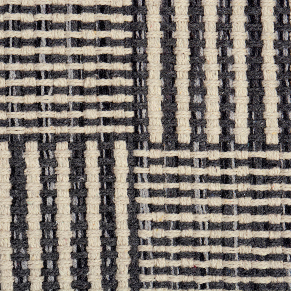 DII Gray Squares Recycled Yarn Rug