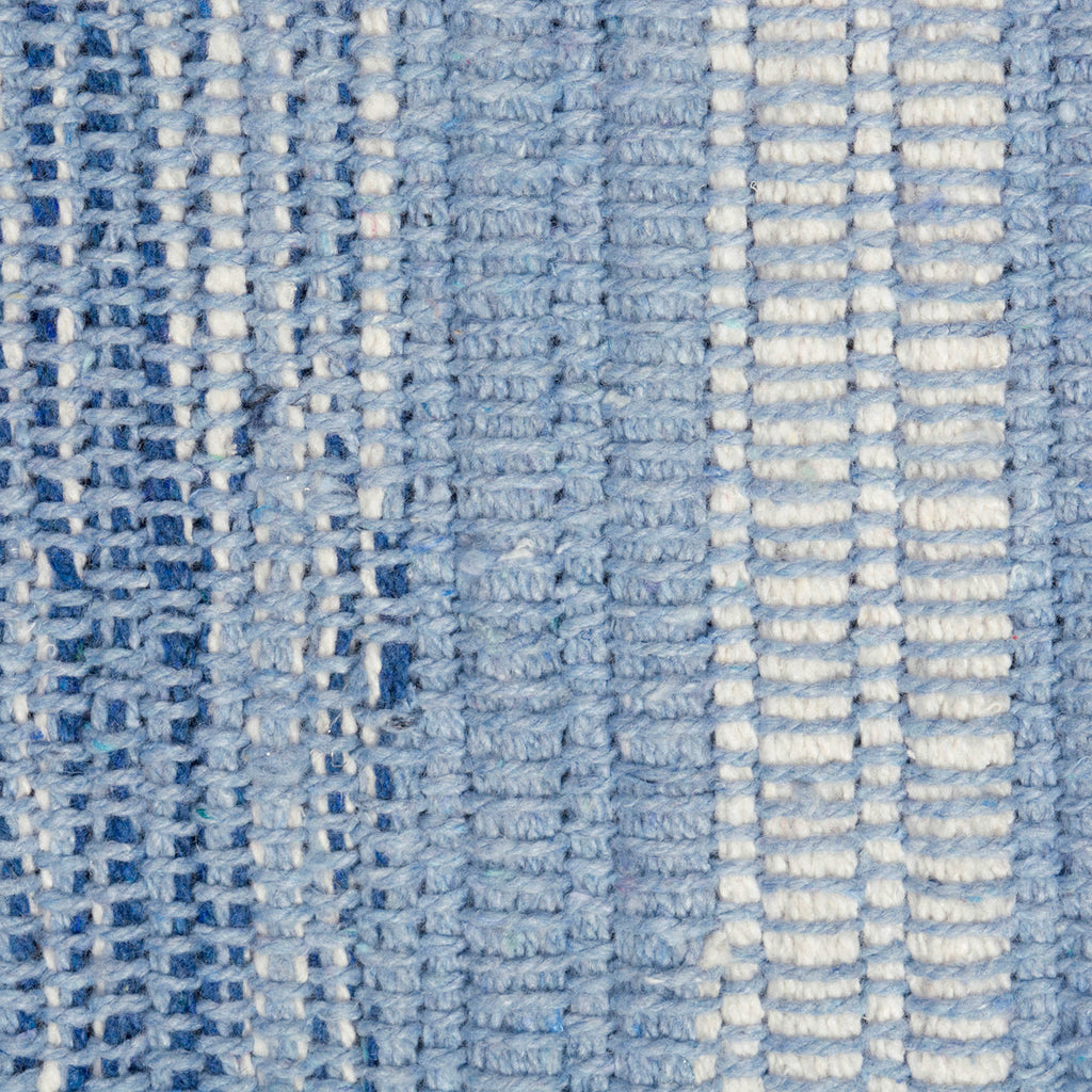 DII Varigated Blue Recycled Yarn Rug